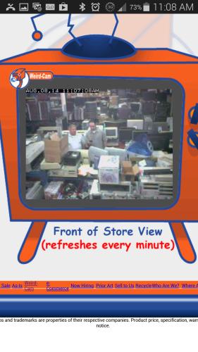 Webcam Weird Stuff