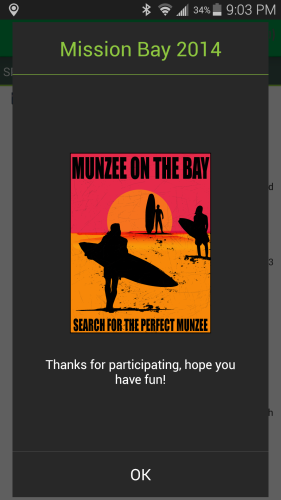 Munzee Mission Bay Event